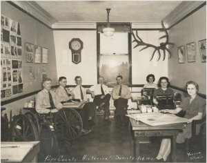 Pope County Historical Society office 1941