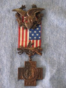 Carl Torguson's United Spanish War Veterans Badge