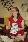 Ann sharing information at Tastefully Simple