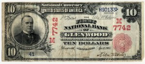 First National Bank of Glenwood Banknote