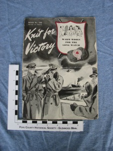 Knitting pattern book from WWII