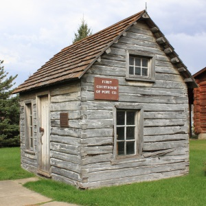 Rustic buildings like this one at the Pope County Museum
