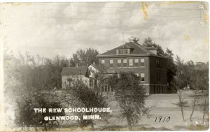 New Schoolhouse (1910) where ECFE building now stand.