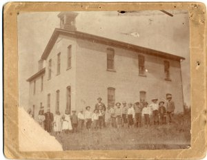 A later photograph of the second school.