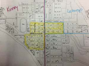 The yellow section is the original plat of Glenwood.