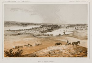 Sketch of White Bear Lake (Minnewaska) from 1853.