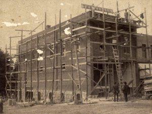 Herald Building under construction