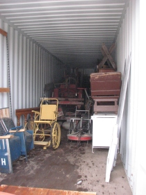 The artifacts were all safely removed and are in storage.
